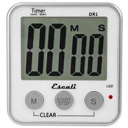 Escali Digital Timer Extra Large LED Display12/24 Hour Clock Mode Recall DR1