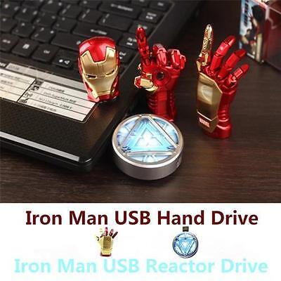USB Flash Memory Stick 4GB 8GB 16GB 32GB Stylish Marvel Iron Man Flash Drive