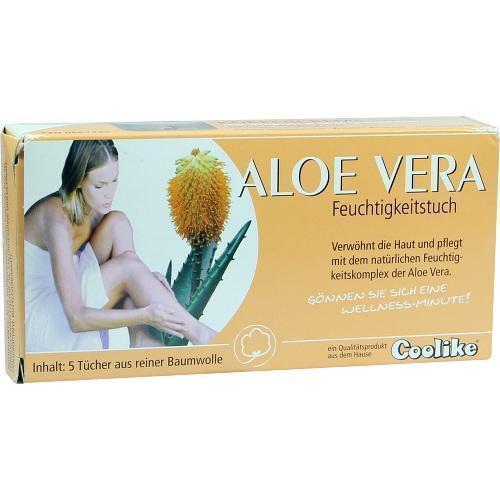 COOLIKE Aloe Vera Feuchtigkeitstuch 5 St