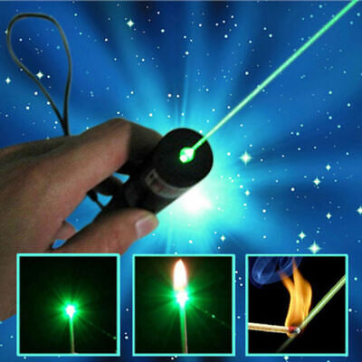 900miles Strong Beam Light Green Laser Pointer Pen 532nm Lazer Torch Waterproof