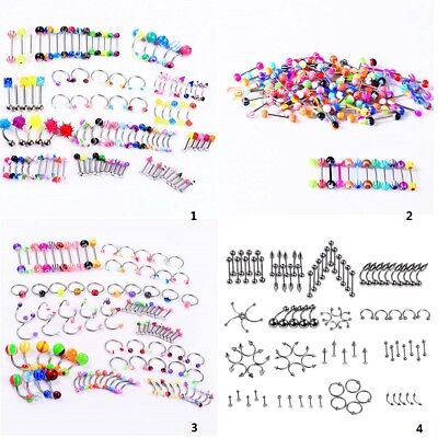 Bulk Wholesale (105pcs Wholesale Bulk lots  Eyebrow Jewelry Belly Body Piercing Tongue Bar)
