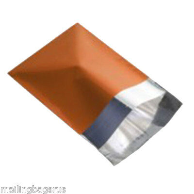 100 Metallic Foil Orange Mailing Postage Postal Bags 4.7