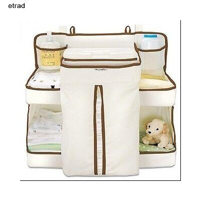 Munchkin Nappy Baby Change Organiser Storage Cot Crib Hanger Wipes Diaper Cream