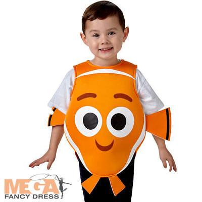 Finding Nemo 2-6 Years Kids Fancy Dress Fish Disney Childrens Boys Girls Costume (Nemo Girl Kostüm)