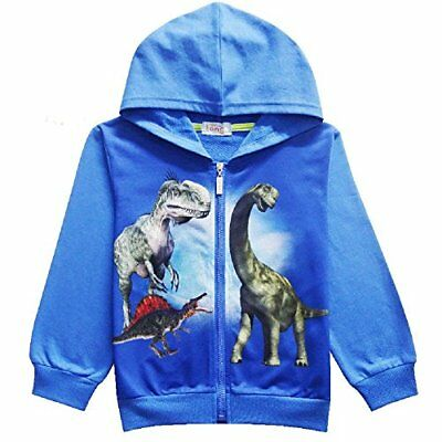 2018 Boys Jurassic Park Dinosaur Hoodie Jacket Sweatshirt Sweater Costume O52 (Jurassic Park Dinosaur Costume)