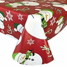 Newbridge Snowman Red Snowflake Christmas Flannel Backed ...