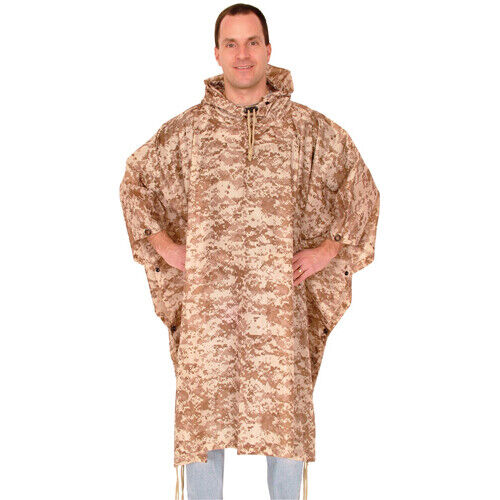 Fox Outdoor Products Ripstop Poncho, Digital Desert