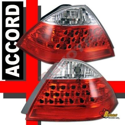 Red Euro Tail Lights Lamps 1 Pair For 2006-2007 Honda Accord 4Dr Sedan  - Honda Accord 4dr Euro Tail