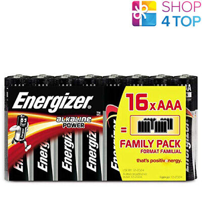 16 ENERGIZER AAA ALKALINE POWER BATTERIES LR03 1.5V MICRO AM4 E92 FAMILY PACK ()