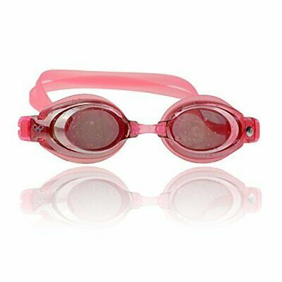 Optical Mirrored Leakproof Anti-fog Pink Swim Goggles (Prescription Lenses -4.0) ()