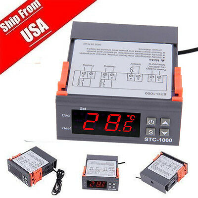 110v 10a Mini Digital Stc-1000 All-purpose Temperature Controller With Sensor Hx