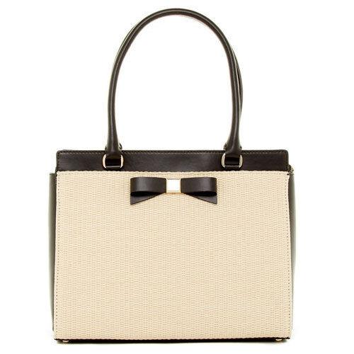Kate Spade Bag WKRU3048 Jovie Montford Park Straw Clutch Black Agsbeagle