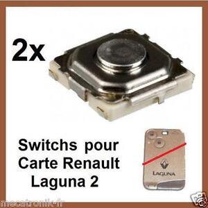2x switch bouton de cl telecommande pour carte renault laguna 2 espace4 velsati ebay. Black Bedroom Furniture Sets. Home Design Ideas