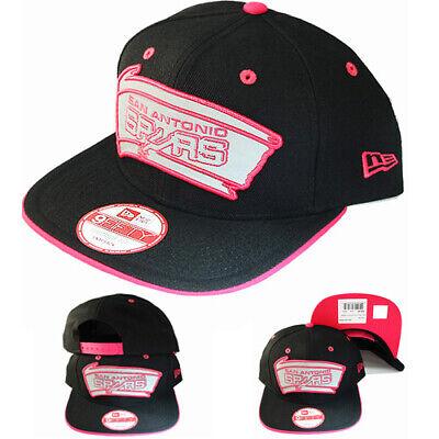 New Era San Antonio Spurs Snapback Hat NBA Classic Pink Reflect Logo Visor Cap