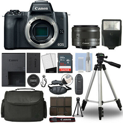 Canon EOS M50 Mirrorless Digital Camera with 15-45mm STM Len