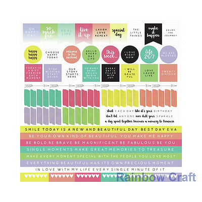 Kaisercraft 12x12 Sticker Sheet Collection Christmas theme 24 selections - My Year My Story 1