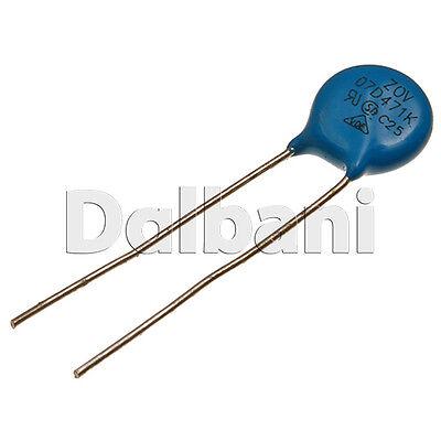 5pcs @$1.39 07D471K Metal Oxide Varistor Volt Dependent Resistor 470V 300VAC