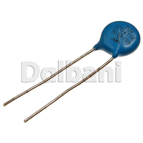 5pcs 07D471K Metal Oxide Varistor Volt Dependent Resistor 470V 300VAC