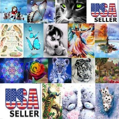 5D Diamond Painting Embroidery Cross Crafts Stitch Kit Home Art Decor DIY Gifts (Craft Kits)