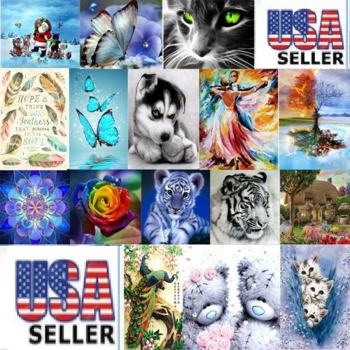 5D Diamond Painting Embroidery Cross Crafts Stitch Kit Home