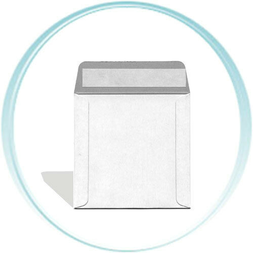 100  5 x 5 Inch White CARDBOARD CD/DVD Mailers with Flap & Seal