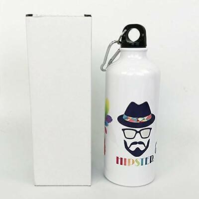 5pcs White 600ml Aluminium Water Bottle 3d Sublimation Heat Press Transfer Art
