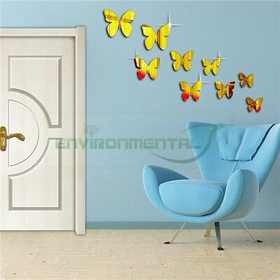Butterfly Gold Acrylic Plastic Mirror Wall ROOM ...