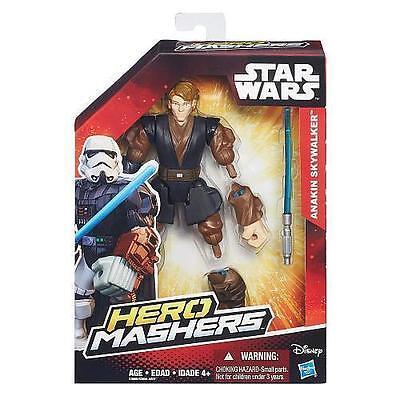 "ANAKIN SKYWALKER ( 6"" ) STAR WARS ( HERO MASHERS ) ACTION FIGURE w / LIGHTSABER"