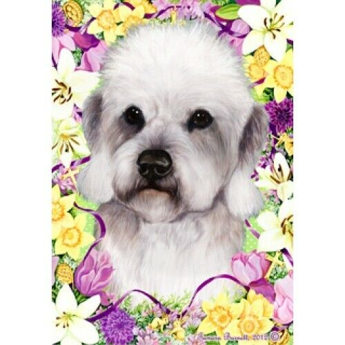 Easter House Flag - Pepper Dandie Dinmont Terrier 33211