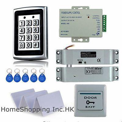 Metal RFID Card Door Access Control System+Electric Drop Bolt Lock+10 RFID Cards