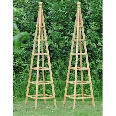 Set of 2 Wooden Garden Obelisk (1.9m) Climbing Plant Supports by Selections