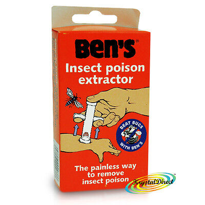 Ben's Bens Insect Poison Easy Painless Extractor Bites & Stings Remover Kit