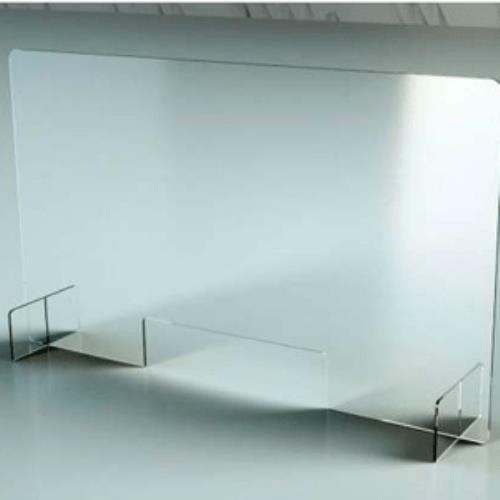 Plexiglass Barrier/Sneeze guard with Cut-Out