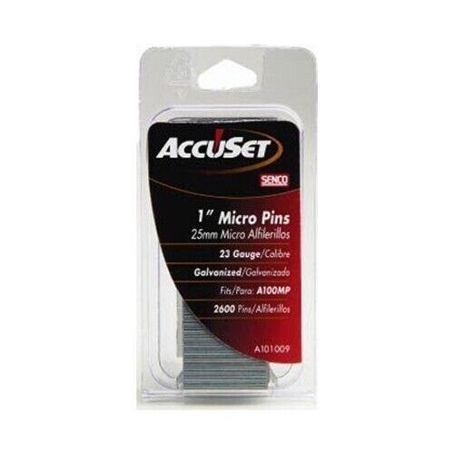 "SENCO A101009 23 Ga. Straight Strip Micro Pin, 1"", Diamond Point"