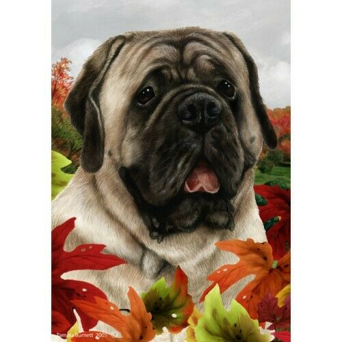Fall Garden Flag - Silver Mastiff 132771