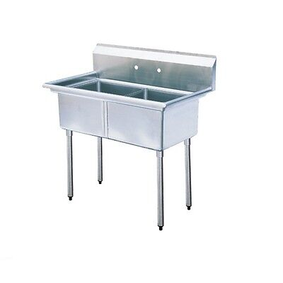 New Commercial Stainless Steel 33 X 22 2 Double Two Compartment Sink Nsf 16 Ga