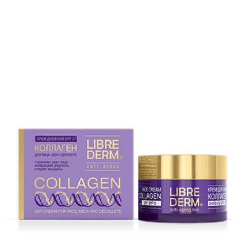 Librederm Collagen Day Cream face to restore radiance & smoo