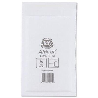 Jiffy Bag Size 00 Pack 100 Airkraft Bubble Postal Bag JL-00 (145x210mm)