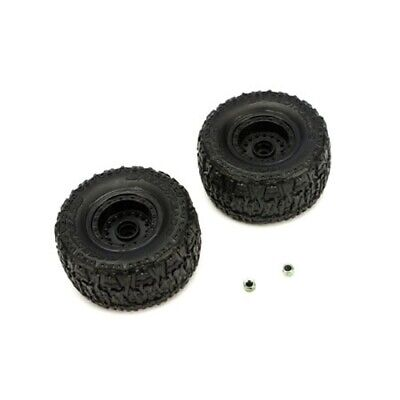 ECX ECX8304 Pre-Mounted Front Tire Set (2) Black: 1/18 Smash (Pre Mounted Front Tire)