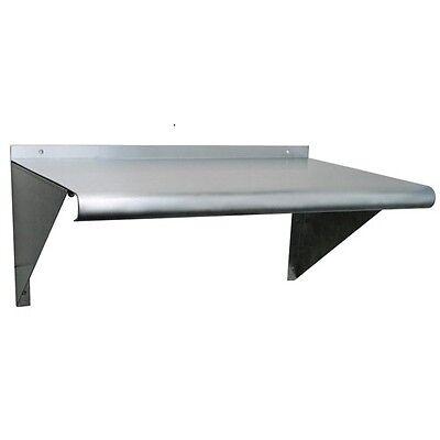 New Stainless Steel Wall Mount Shelf - 72 X 12 Nsf Commercial Grade- 18 Gauge