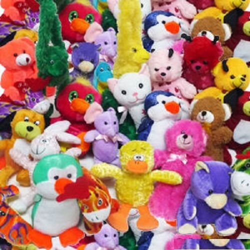 Regular Plush Animal Pre-pack Assortments 5-7 Inches Bulk (Pack of 144X)