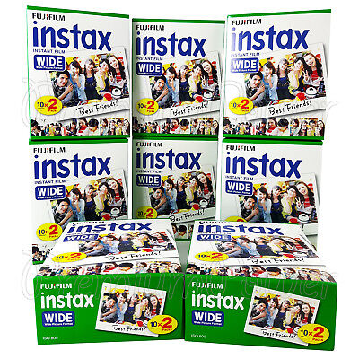 160 PCS Fujifilm INSTAX WIDE Instant film for camera 100/200/210/300 BOX, used for sale  Shipping to Canada