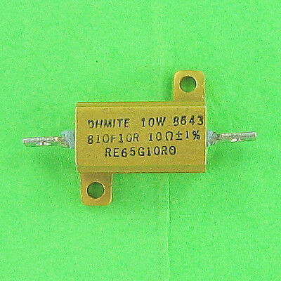 10 Ohm 10w 1 Ohmite Wirewound Power Resistor Chassis Mount Aluminum Metal Case