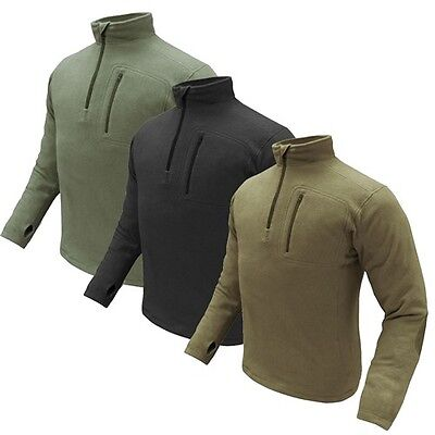 Condor Quarter Zip Fleece Thermo Tactical Pullover Military Sweater Size S-XXL