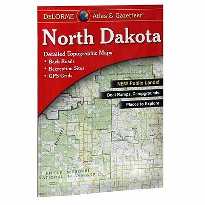 new delorme north dakota nd atlas and gazetteer topo road map topographic maps
