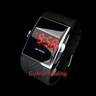 LED Digital Sport Uhr Digitaluhr LED-Uhr schwarz Herrenuhr Armbanduhr