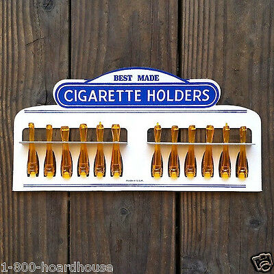 Vintage Original BEST MADE AMBER CIGARETTE DISPLAY Holders 1950s Dimestore (Best Cigarette Holders)