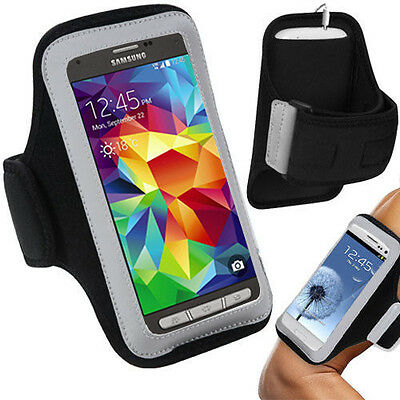 For Samsung Galaxy S4 S5 Active Armband Jogging Workout Gym Exercise Sports Case