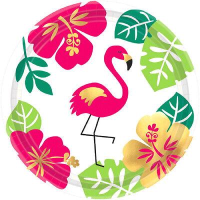 HAWAIIAN LUAU Margaritaville SMALL PAPER PLATES (8) ~ Birthday Party Supplies - Hawaiian Paper Plates