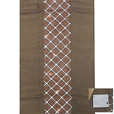 Table Runner With Lights (Bethlehem Nights QVC Damask Table Runner with Prelit Lights Chocolate Brown)
